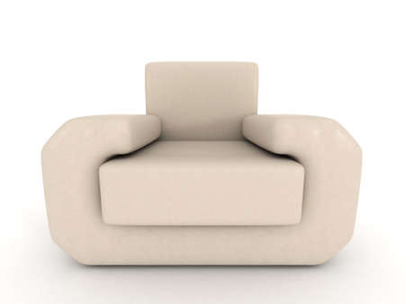 3D beige sofa Stock Photo - 8062425