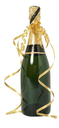 champagne bottle: A Unopened bottle of champagne Stock Photo