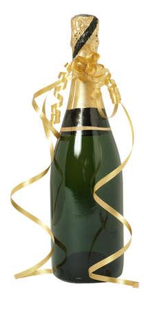 bouteille champagne: Une bouteille de champagne de non ouverte Banque d'images