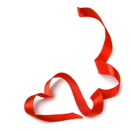Ribbon made of heart-shaped