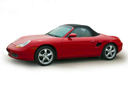 White on a small red sports car Stock Photo - 9218788