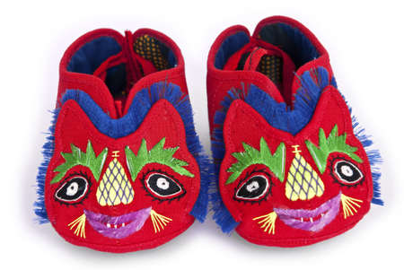 craftwork: Traditional Chinese baby tiger shoes