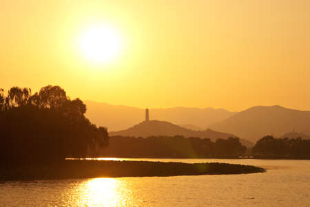 Sunset in Summer Palace, Beijing, China.