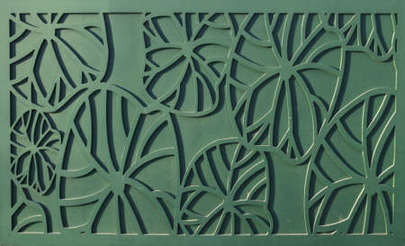 Green lotus leaf decoration pattern photo