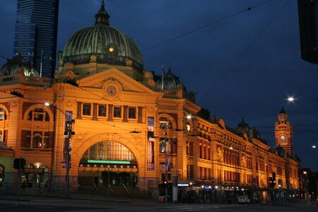 flinders: Flinders Street Station, Melbourne Stock Photo
