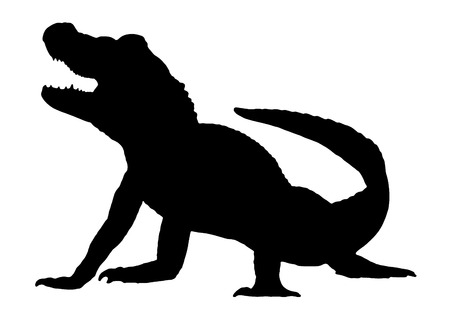 alligator: Vector graphic silhouette of an American Alligator.