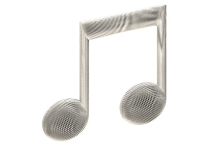 mesh: Microphone mesh style musical symbol isolated on white background.