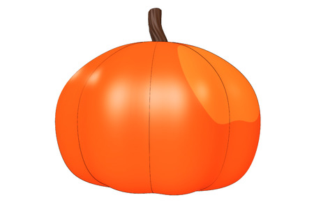 illustrated: Illustrated pumpkin design element isolated on a white background.