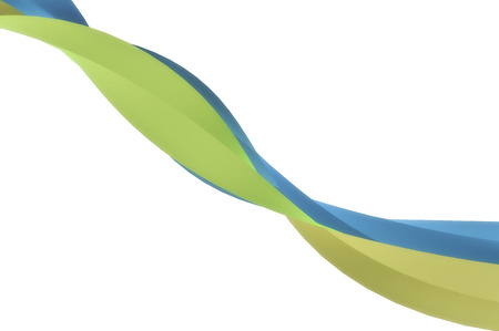 Twirling subtle blue green ribbon background.