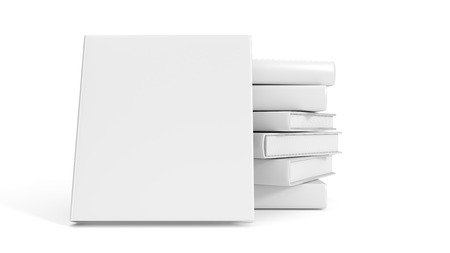 noname: Blank stack of books isolated on white background.
