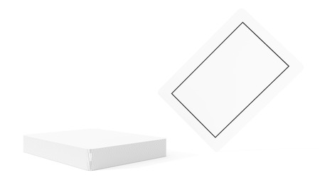 plating: Blank plating card and deck isolated in white background.