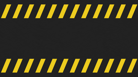 grunged: Lightly grunged black and yellow caution sign background. Stock Photo