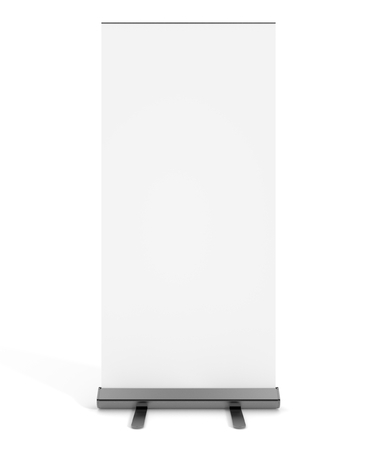 free standing: Free standing blank white display sign isolated on a white background.
