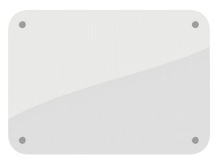 광택 흰색 반사 흰색 배경에 고립 된 기호.