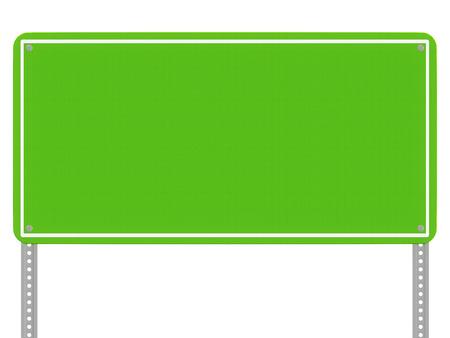 흰색 배경에 고립 된 녹색 반사도 표지판