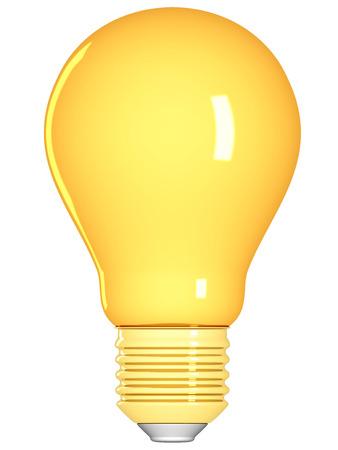 Golden lightbulb isolated on a white background.