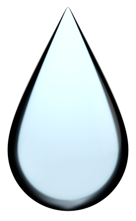 Blue teardrop isolated on a white background. 版權商用圖片