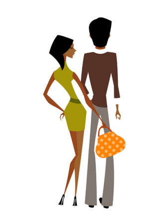 Couple standing together Vector