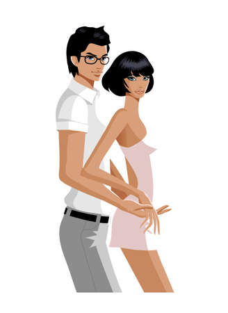 Portrait of couple  Vector