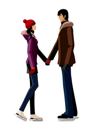 Couple holding hand together Vector