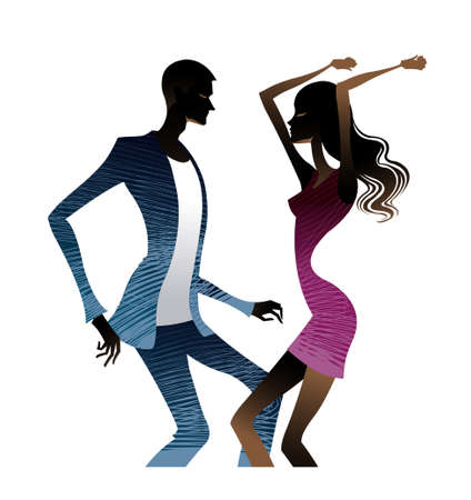 Couple dancing together Vector