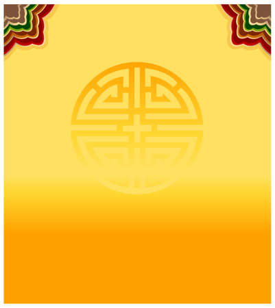 Korean traditional patterns of yellow color Seamless Tile Vector