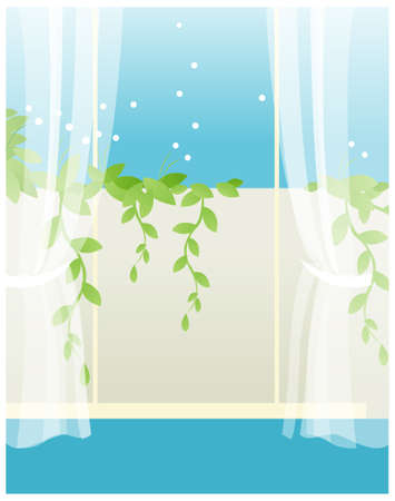 There is a balcony on the vine. View from the balcony  Stock Vector - 15880222