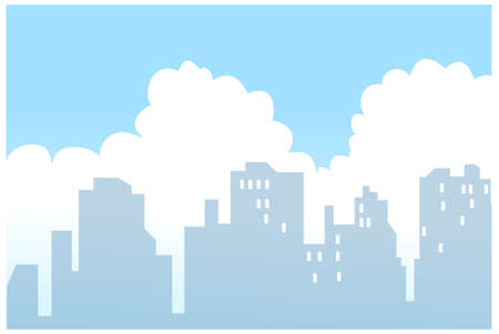 This illustration is a common natural landscape. City Skyline  Stock Vector - 15879685