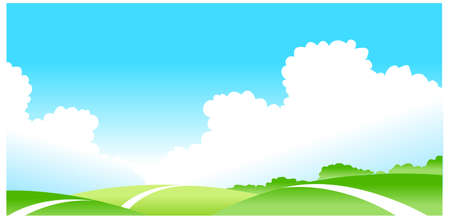 This illustration is a common natural landscape. Green landscape Stock Vector - 15879619