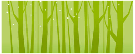 This illustration is a common natural landscape. Close-up of tree woods Vector