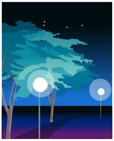 This illustration is a common cityscape. Night view at highway Stock Vector - 15881204