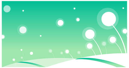 This illustration is a common natural landscape. snow landscape design Vector