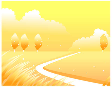 This illustration is a common natural landscape. winter landscape Stock Vector - 15879740