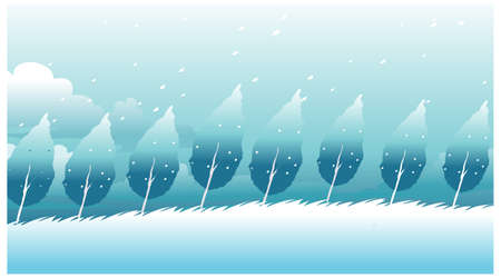 this illustration is the general nature of the winter landscape. Trees in winter Stock Vector - 15879770