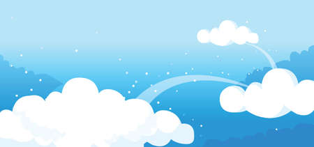 This illustration is a common natural landscape. clouds in the sky Stock Vector - 15879686