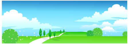 This illustration is a common natural landscape. Green landscape Stock Vector - 15879617