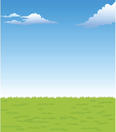 This illustration is a common natural landscape. Green landscape Stock Vector - 15879922
