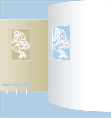 this illustration is the interior landscape. wall Vector