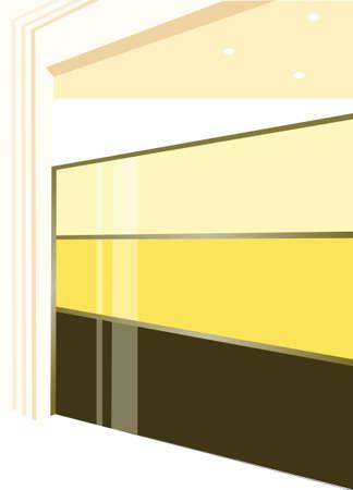 this illustration is the inter landscape. Modern design inter of shop Stock Vector - 15880042