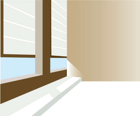 this illustration is the interior landscape. room Vector