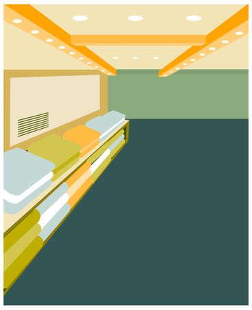 this illustration is the inter landscape. Modern design inter of shop Stock Vector - 15879825