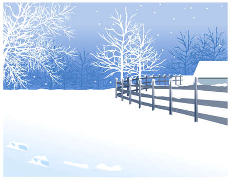 this illustration is the general nature of the winter landscape. Winter landscape Stock Vector - 15901321