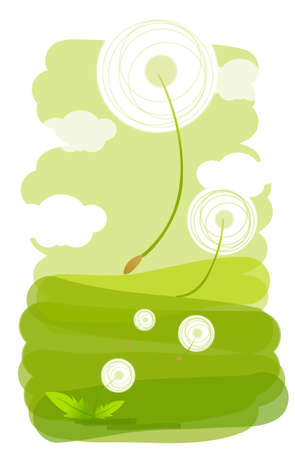 This illustration is a common natural landscape. Flora Design Stock Vector - 15900770