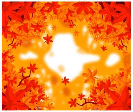 This illustration is a common natural landscape. Autumn Leaves Vector