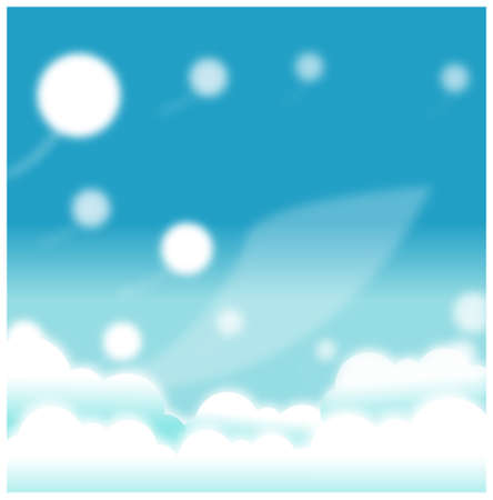 This illustration is a common natural landscape. Blue Sky Stock Vector - 15901577