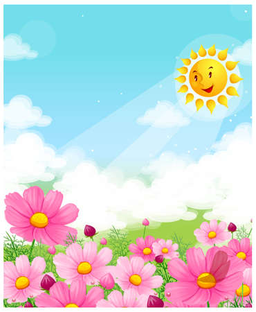 This illustration depicts a young child's dream world. Flower blossom Stock Vector - 15901653