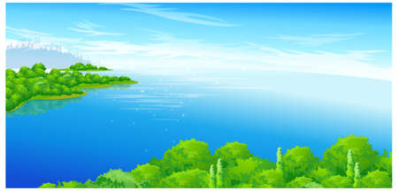 This illustration is a common natural landscape. Island Stock Vector - 15901415