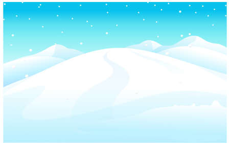 This illustration is a common natural landscape. snowcapped Mountain Vector
