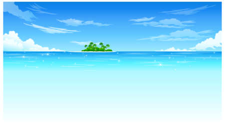 This illustration is a common natural landscape. Island Stock Vector - 15881710