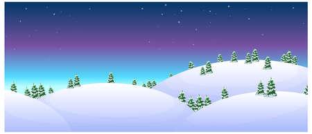 dramatic sky: esta ilustraci�n es la naturaleza general del paisaje del invierno. Abetos m�s nevado